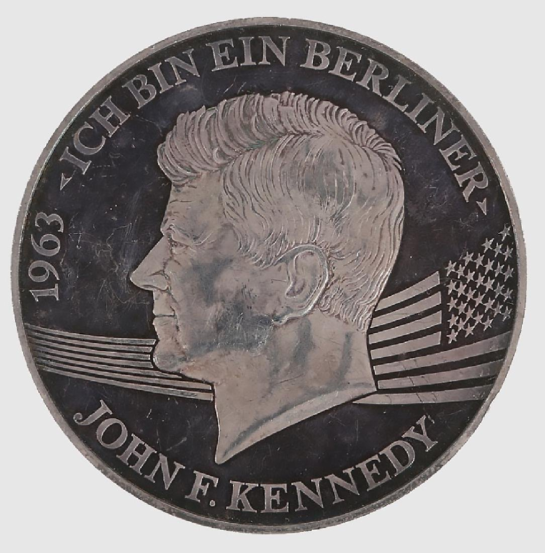 PROOF SILVER JOHN F. KENNEDY BERLIN MEDAL
