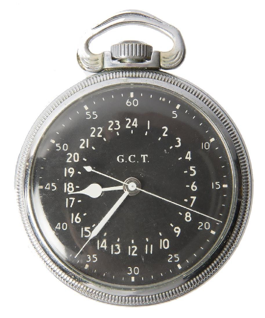 WWII UNITED STATES HAMILTON GCT 24HR POCKET WATCH