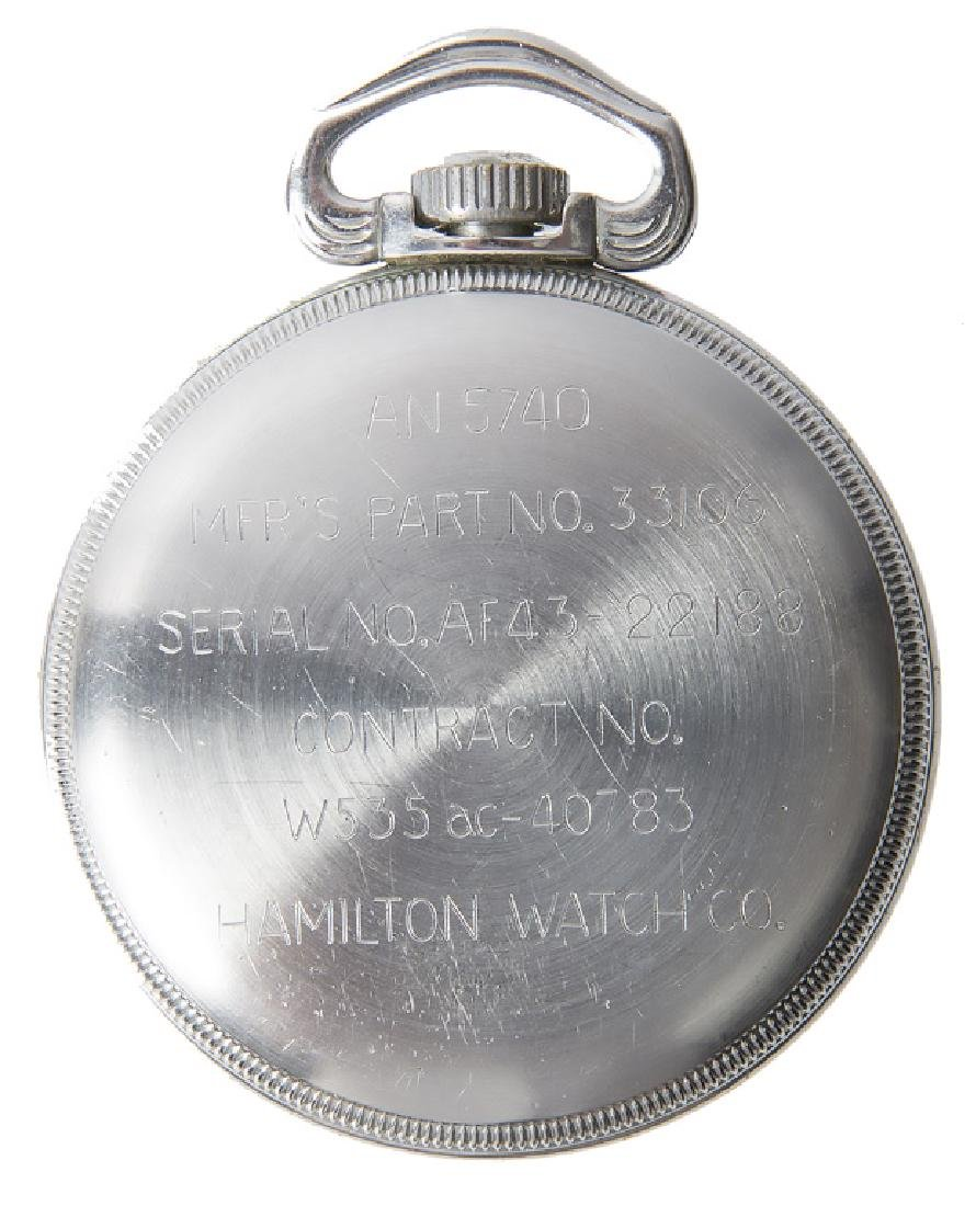 WWII UNITED STATES HAMILTON GCT 24HR POCKET WATCH - 2