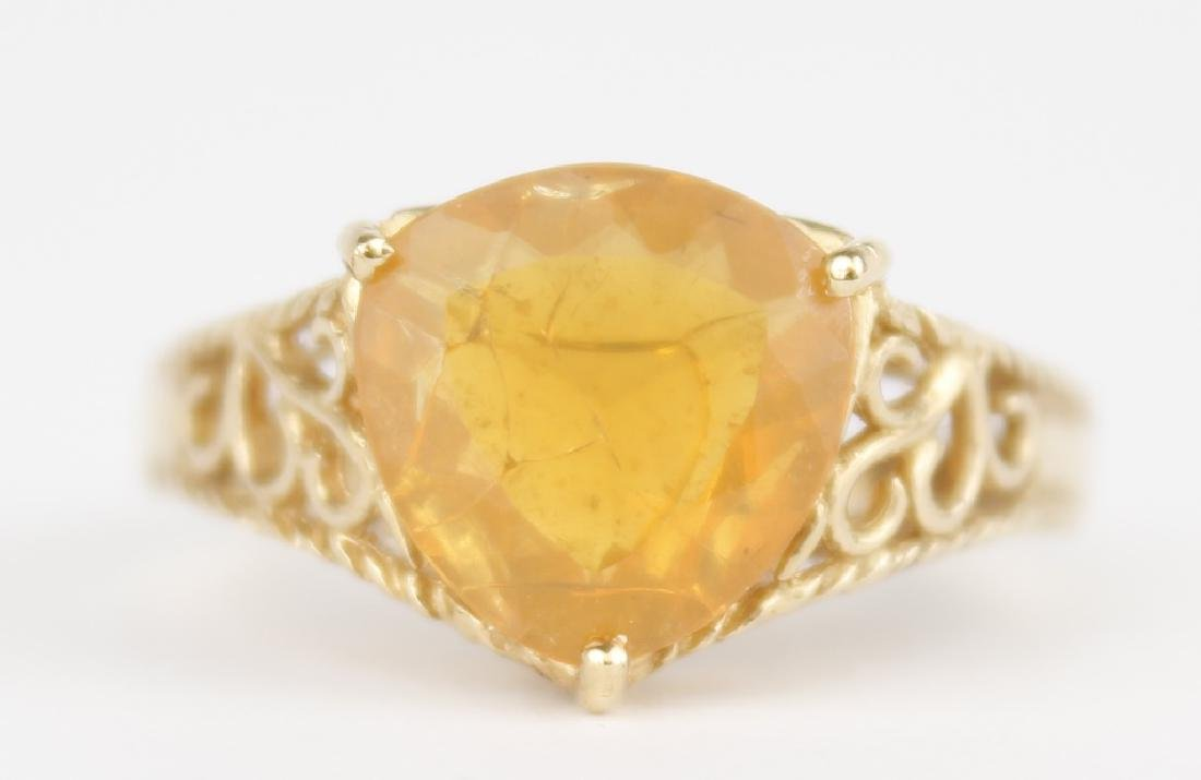 18K YELLOW GOLD AND CITRINE RING