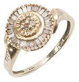 LADIES 10K YELLOW GOLD CHAMPAGNE DIAMOND RING