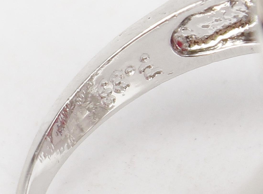 STERLING SILVER AND RUBY RING - 9