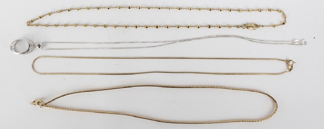 STERLING SILVER NECKLACES LOT OF 5