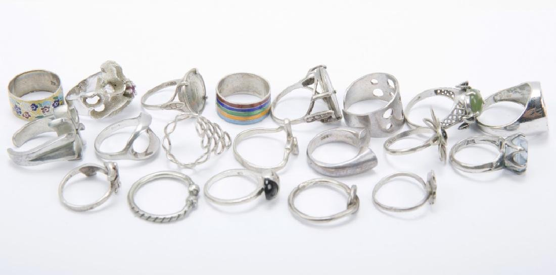 STERLING SILVER LADIES FASHION RINGS LOT OF 20 - 2
