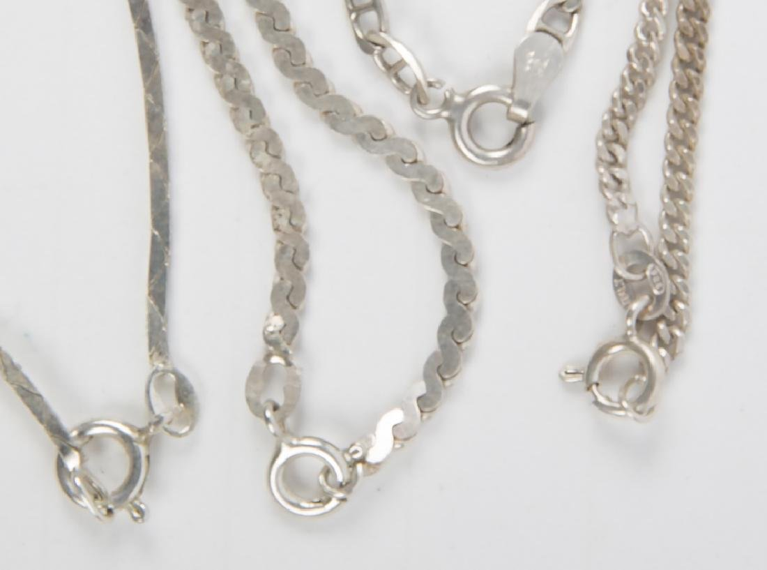 LADIES STERLING SILVER FASHION NECKLACES - 4