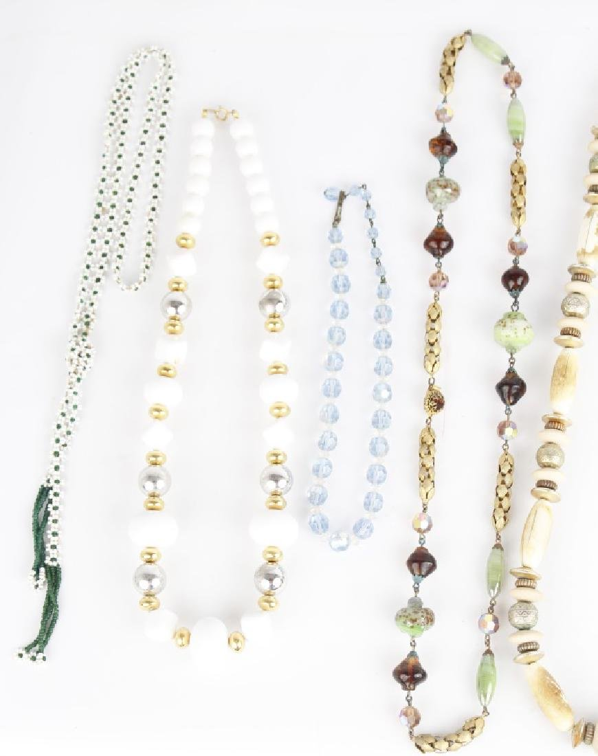 BEADED COSTUME NECKLACES - 3