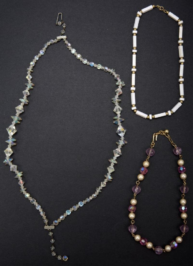 COSTUME BEADED NECKLACES LOT OF THREE
