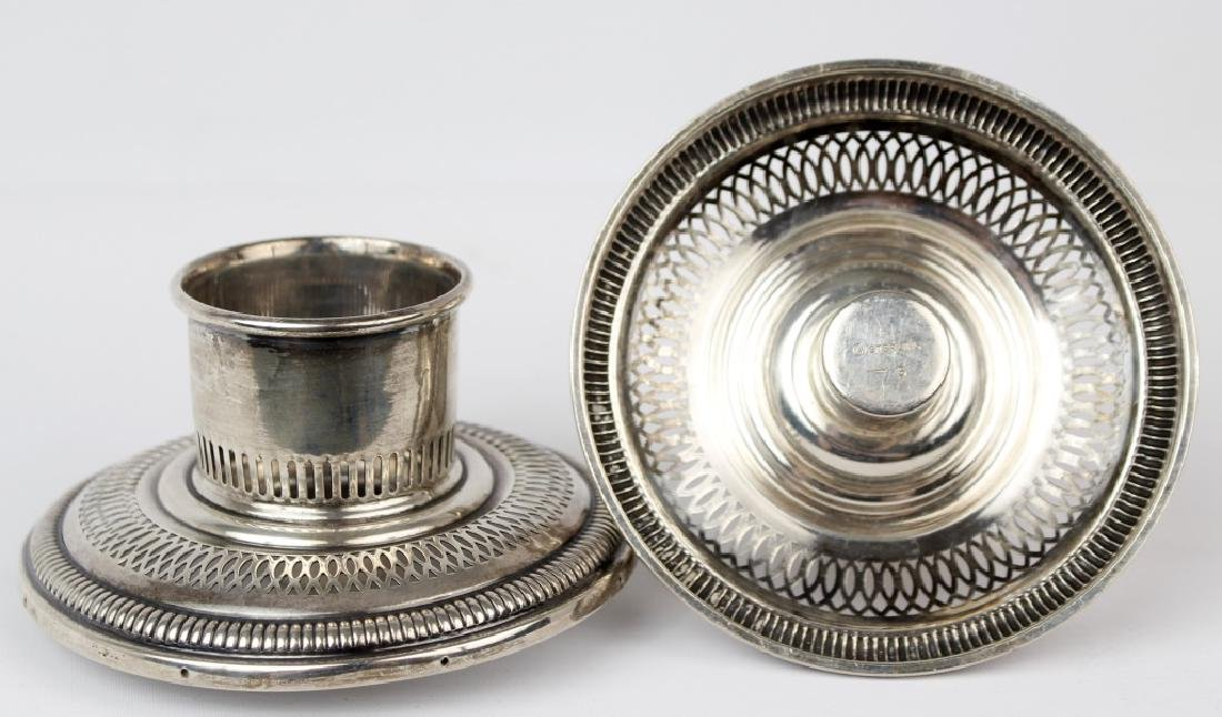 STERLING SILVER CANDLESTICK HURRICANE ADAPTERS