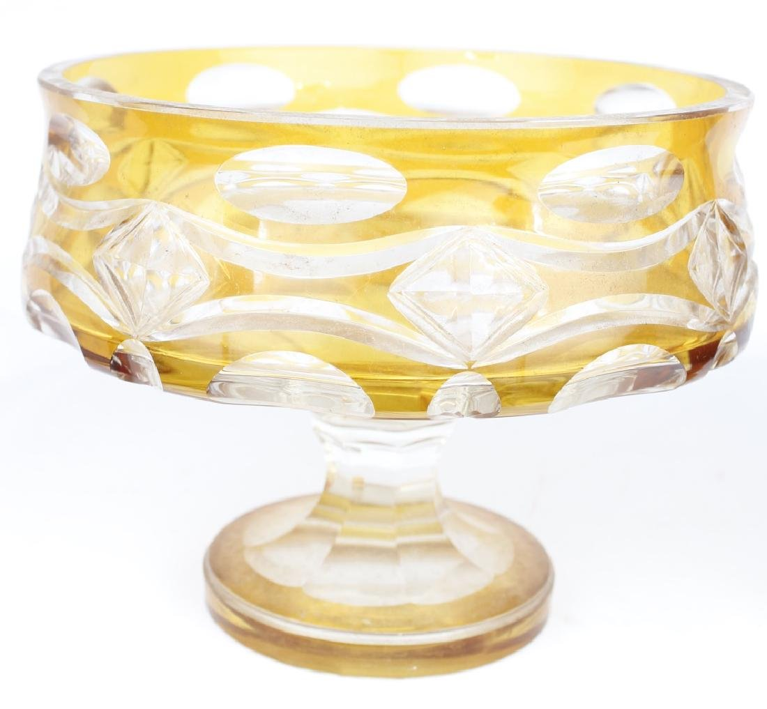 DECORATIVE GLASS BOWL AND GOBLET - 3