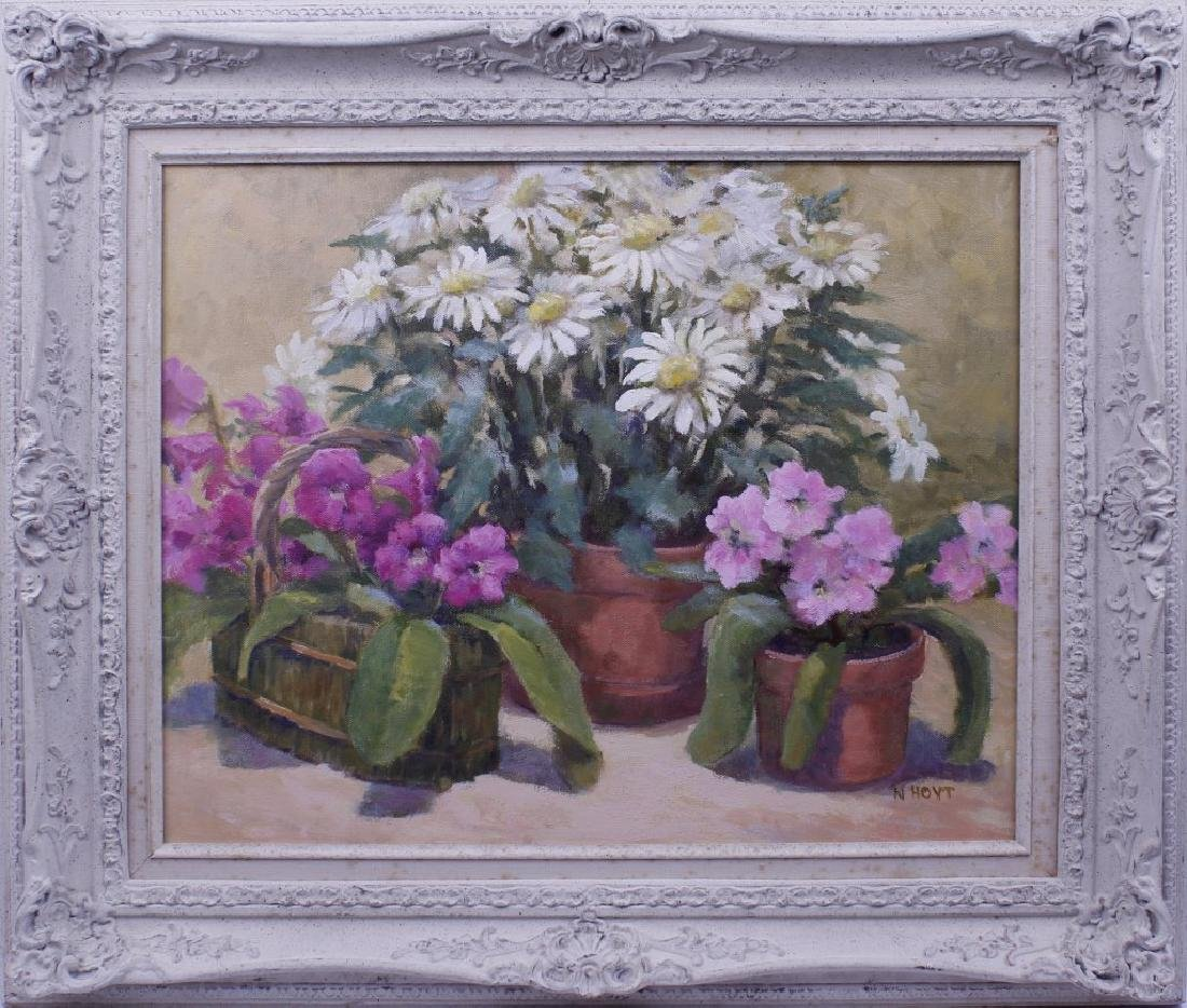 FLORAL STILL LIFE PAINTING ON CANVAS