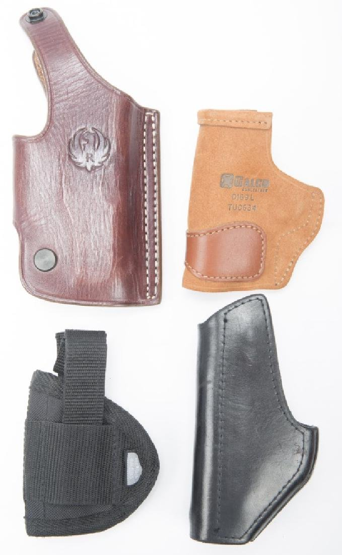 GUN HOLSTERS LEATHER CANVAS -- LOT OF 4