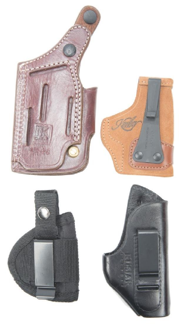 GUN HOLSTERS LEATHER CANVAS -- LOT OF 4 - 2