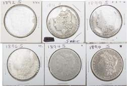 UNITED STATES MORGAN SILVER DOLLARS -- LOT OF 6