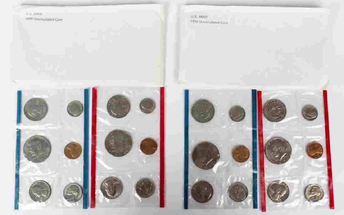US MINT 1979 MINT SETS -  LOT OF 2