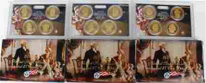 US MINT PRESIDENTIAL $1 PROOF SETS - LOT OF 3