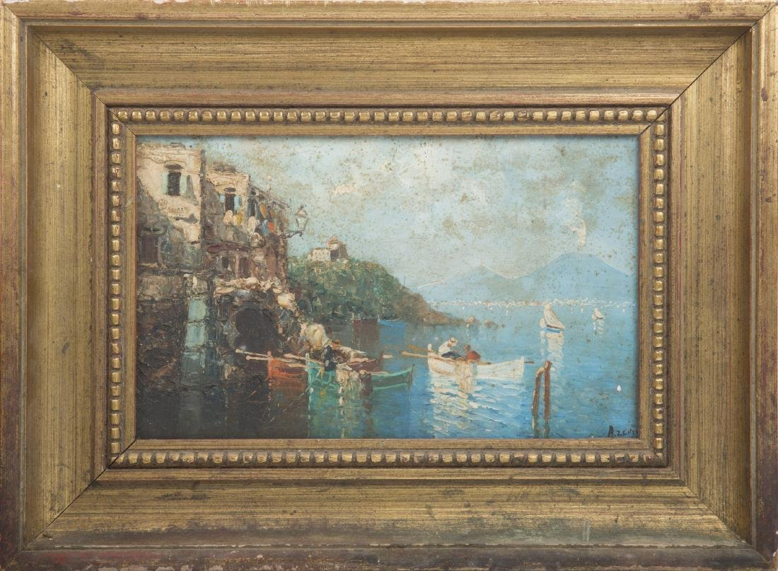 MEDITERRANEAN OIL ON BOARD PAINTING SIGNED