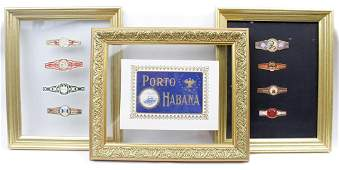 FRAMED CIGAR WRAPPERS - LOT OF THREE