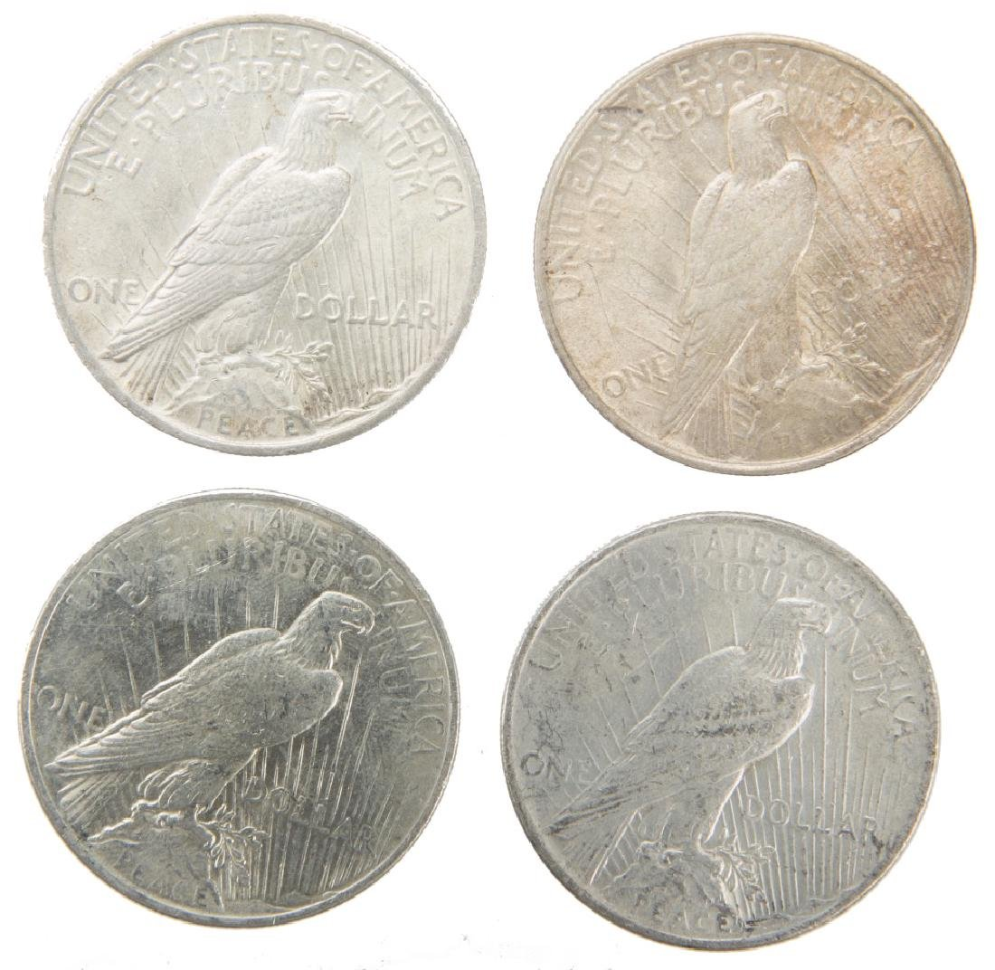 UNITED STATES SILVER PEACE DOLLARS LOT OF 4 - 2
