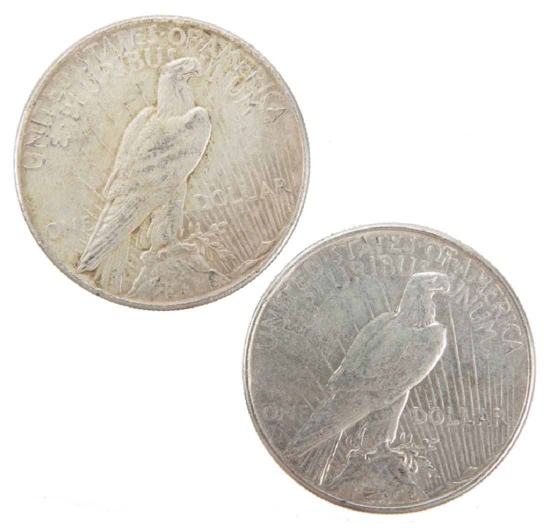 UNITED STATES SILVER PEACE DOLLARS 1934P LOT OF 2 - 2