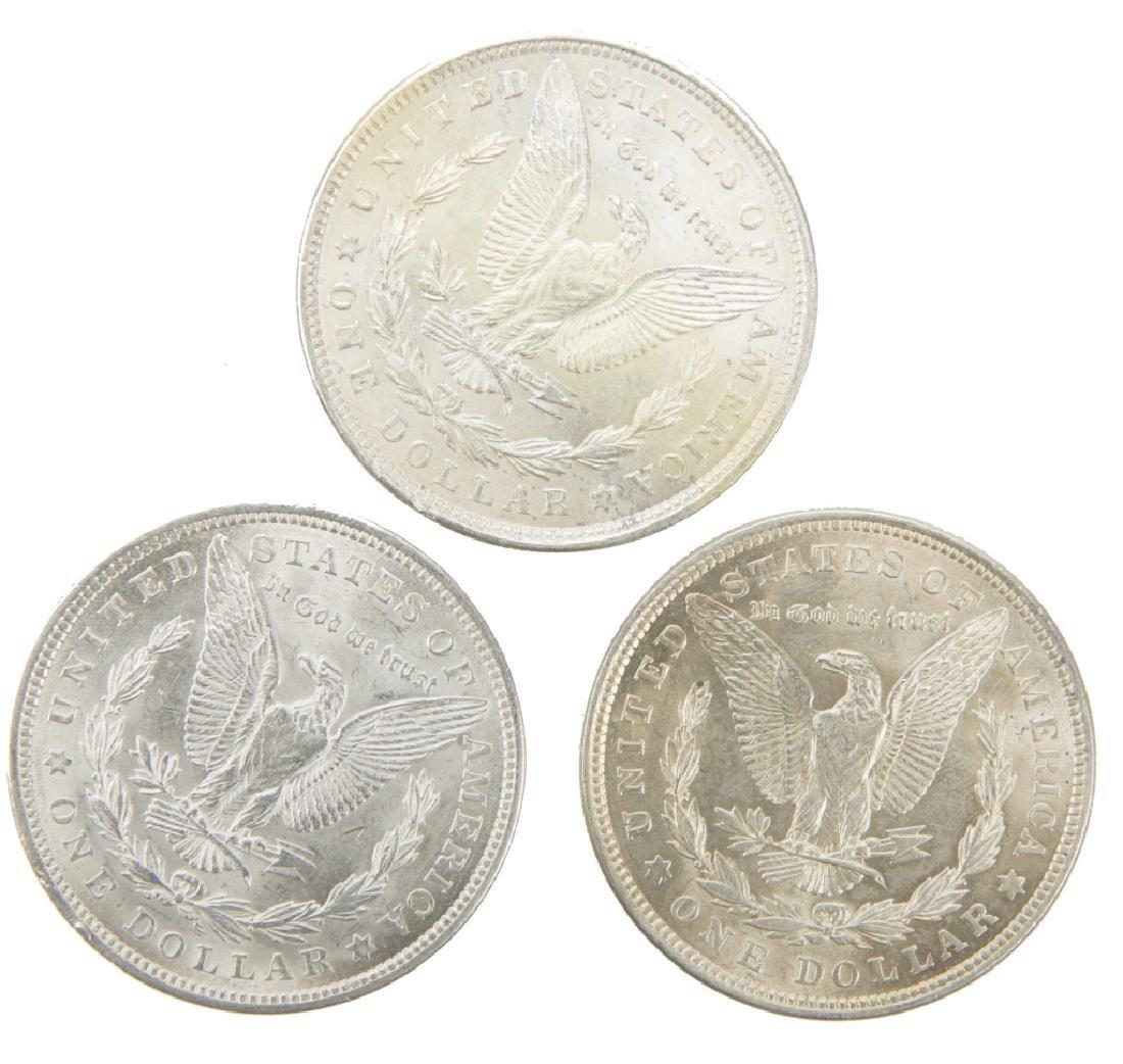 UNITED STATES SILVER MORGAN DOLLARS 1921 LOT OF 3 - 2