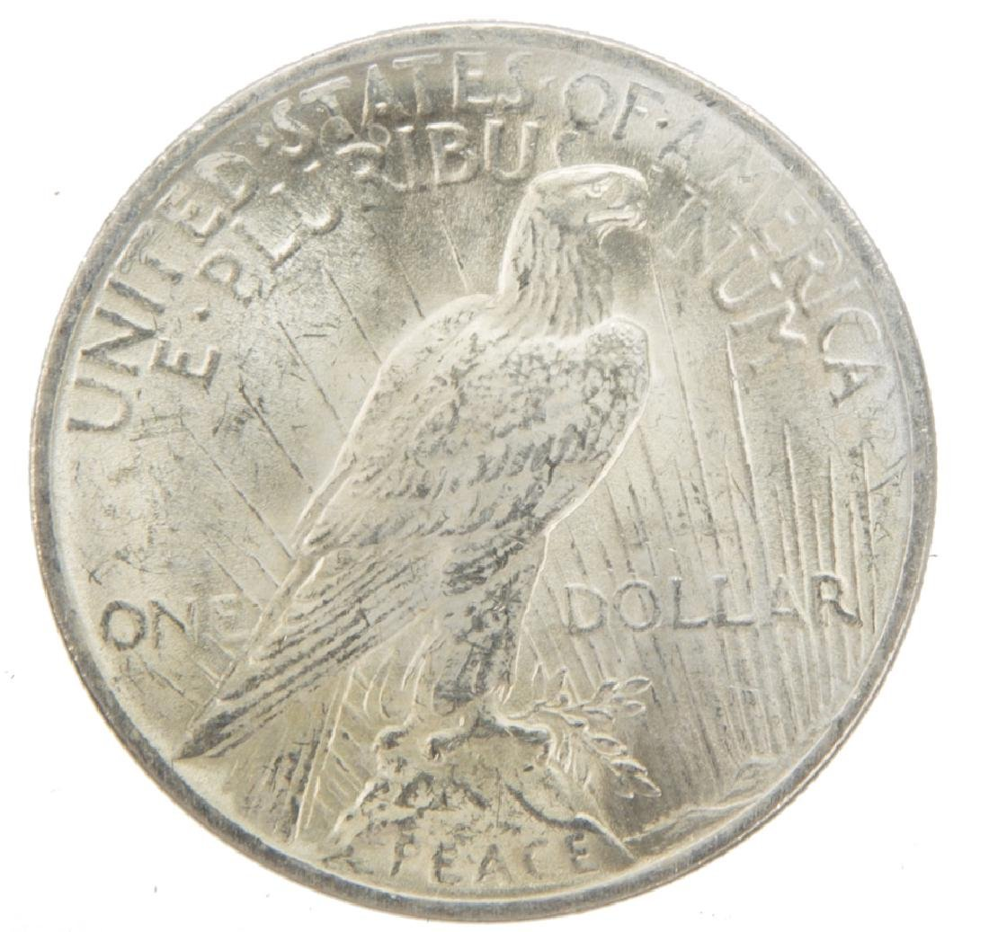 1923 P UNITED STATES SILVER PEACE DOLLAR - 2