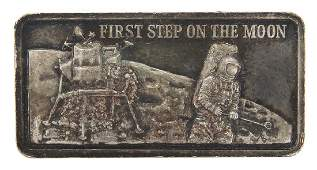 AMERICAS GREATEST EVENTS FIRST STEP 1OZ SILVER BAR