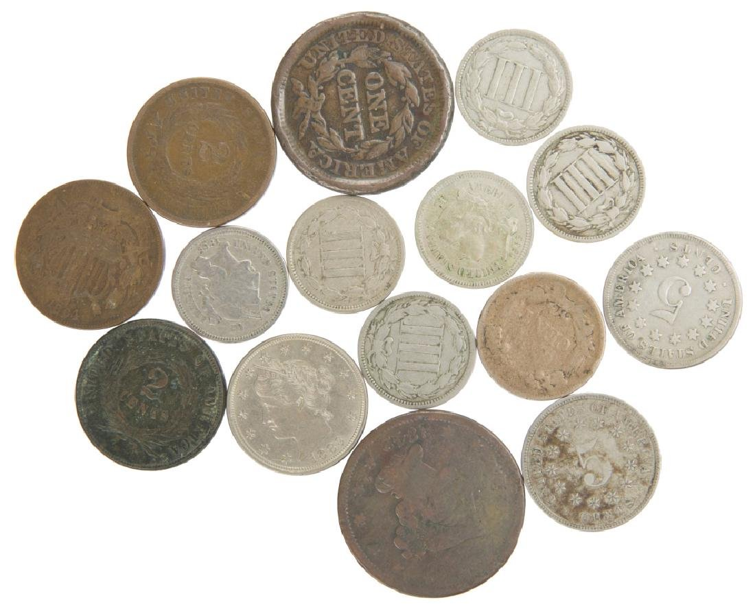COPPER NICKEL TYPE COIN COLLECTION LOT OF 15