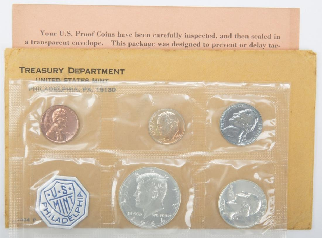 1964 UNITED STATES MINT SILVER PROOF SET