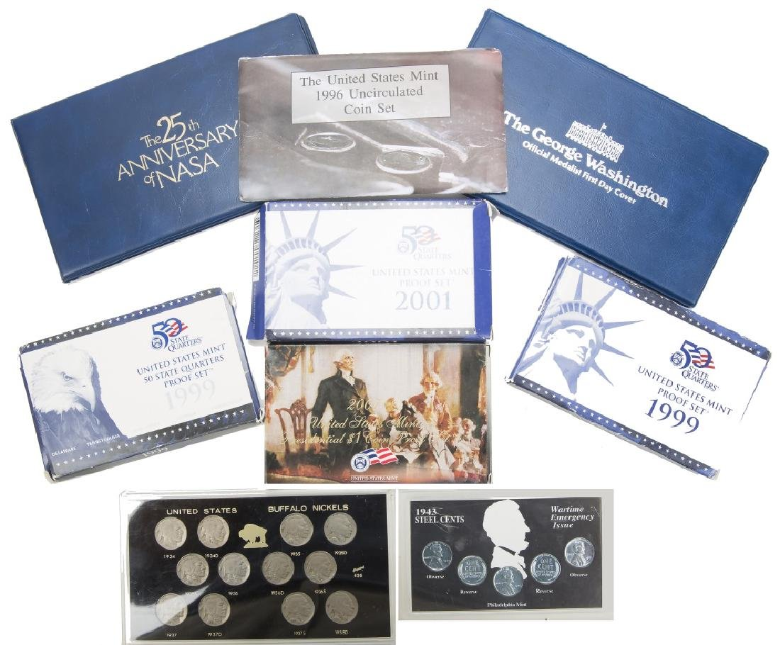 UNITED STATES COIN SETS LOT OF 9