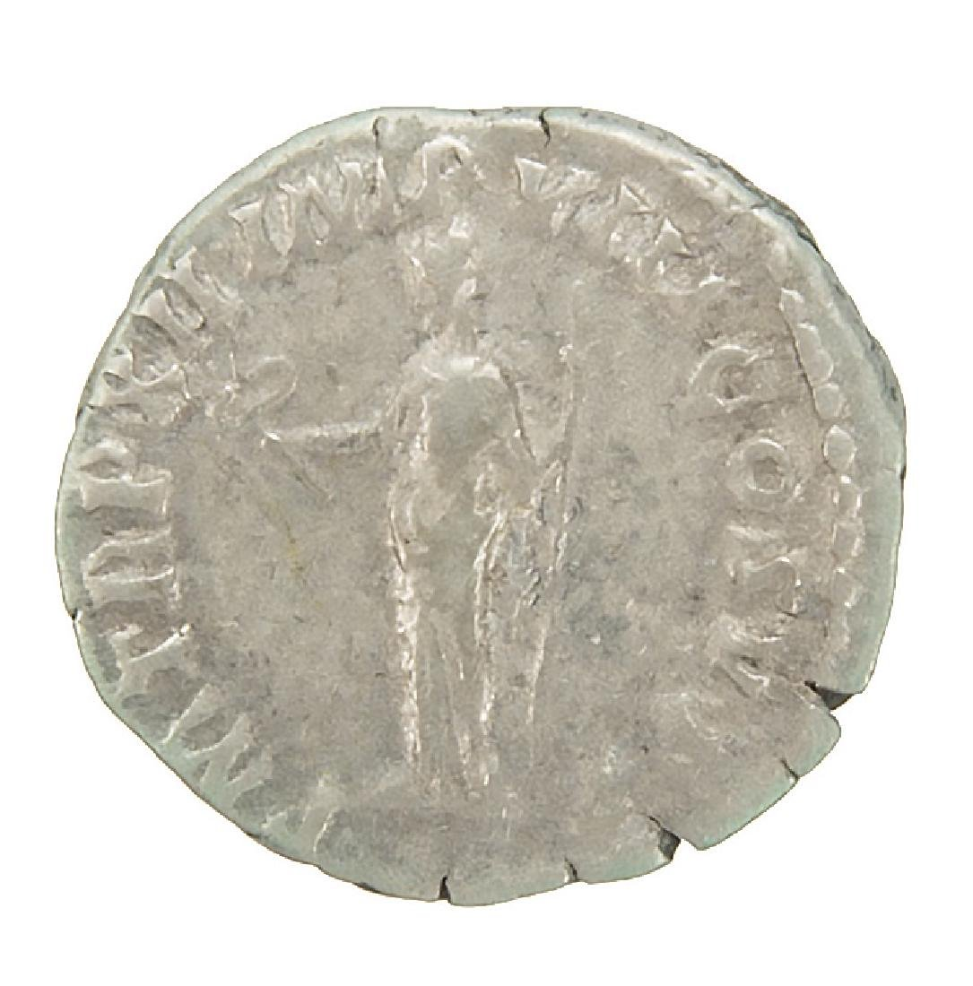 ROMAN SILVER COMMODUS 172-192 AD ANCIENT COIN - 2