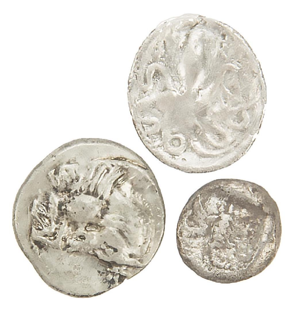 ANCIENT SILVER ROMAN COINS LOT OF 3