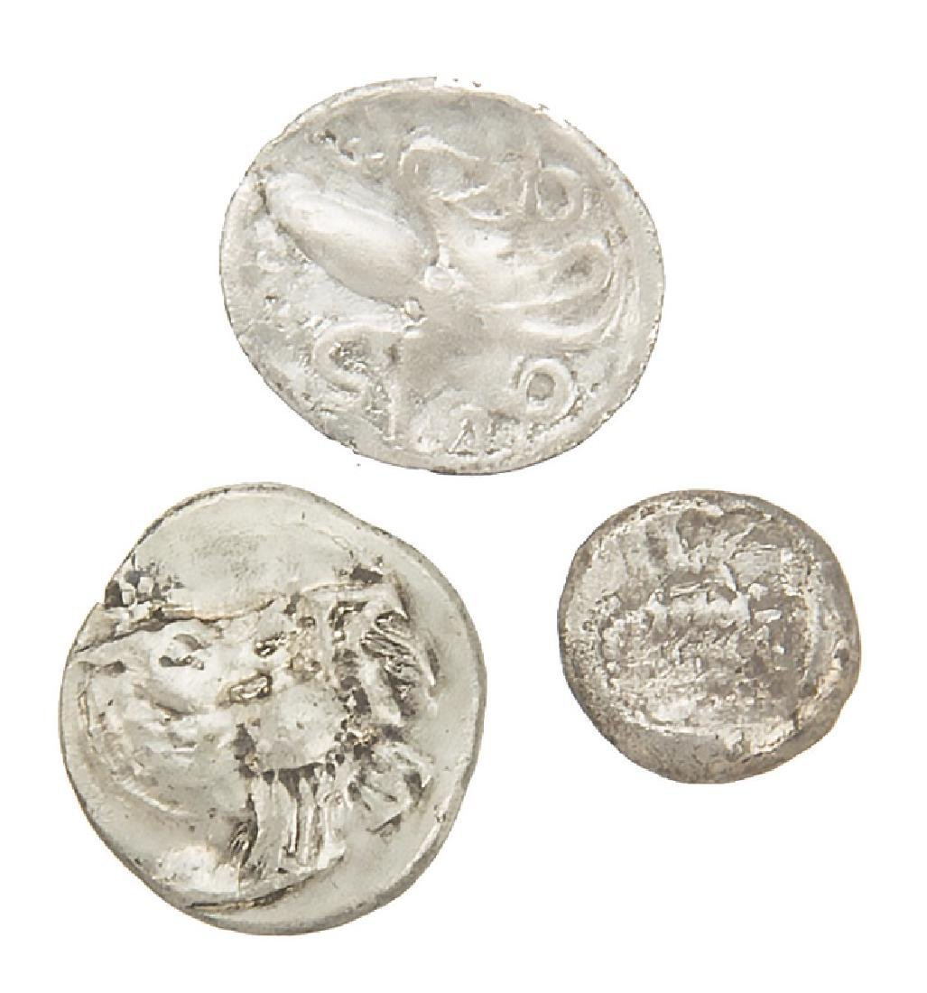 ANCIENT SILVER ROMAN COINS LOT OF 3 - 2