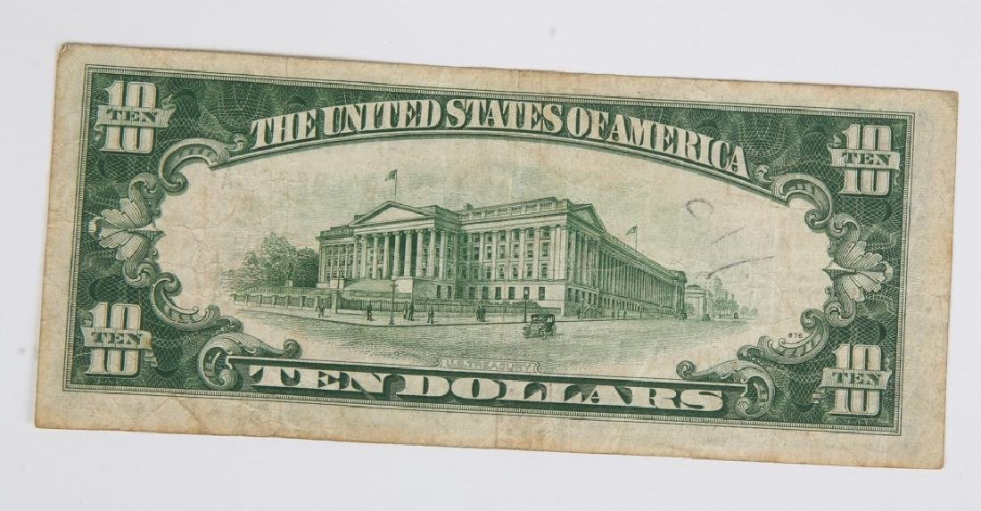 $10.00 SERIES 1934 NORTH AFRICA SILVER CERTIFICATE - 2