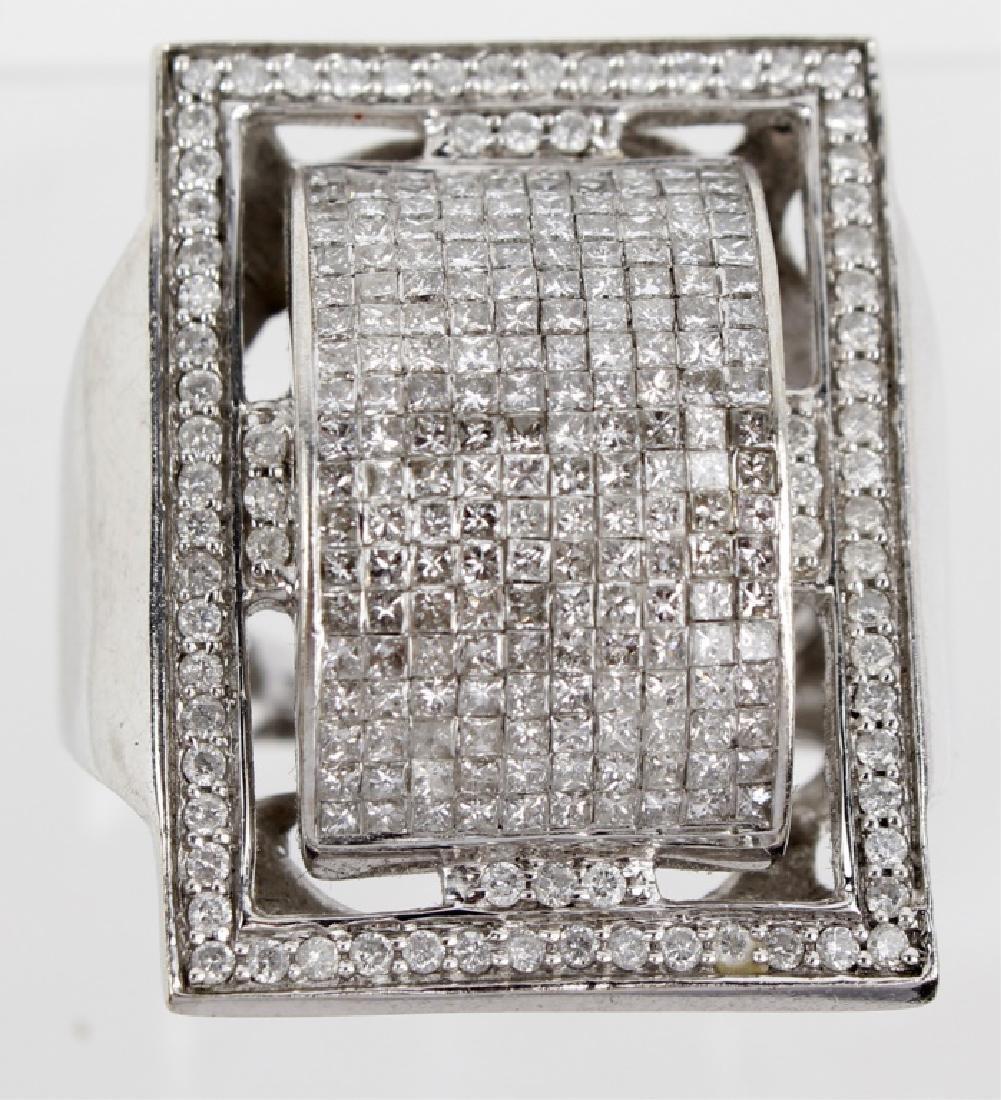 MENS 14K WHITE GOLD DIAMOND RING