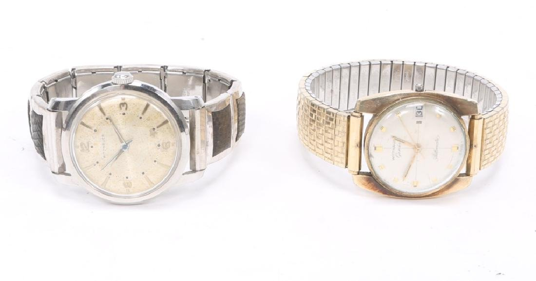 (2) MEN`S WITTNAUER STEEL & GOLD LED WRISTWATCHES