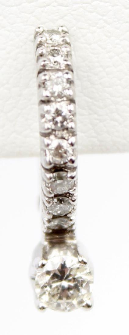 14K WHITE GOLD DIAMOND EARRINGS - 2