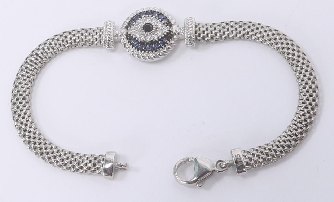STERLING SILVER DIAMOND BRACELET & RING - 2