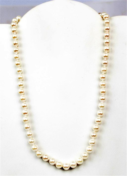 d85b593343cbb4 GENUINE PEARL NECKLACE AND 14K YELLOW GOLD - Jan 26, 2019 | Florida ...