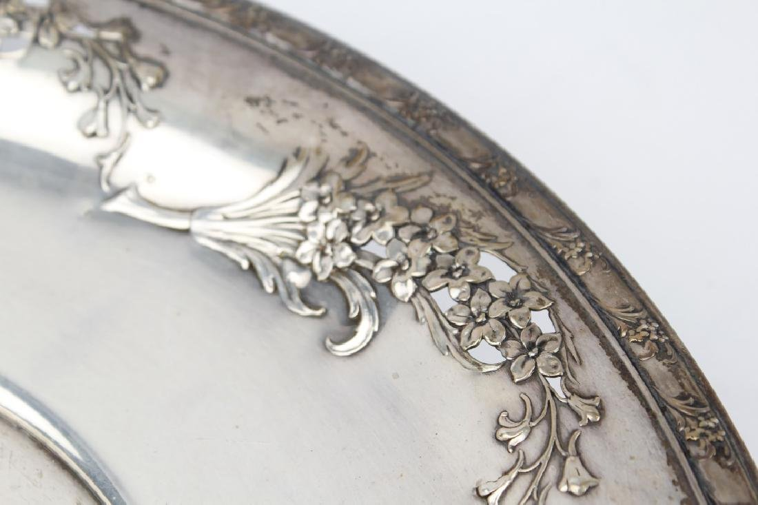 STERLING SILVER SERVING TRAYS LOT OF THREE - 3