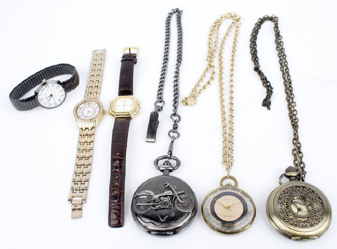 WRIST AND POCKET WATCHES LOT OF 6