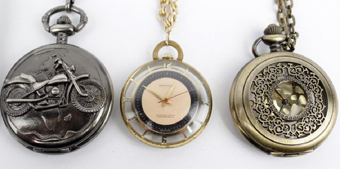 WRIST AND POCKET WATCHES LOT OF 6 - 3
