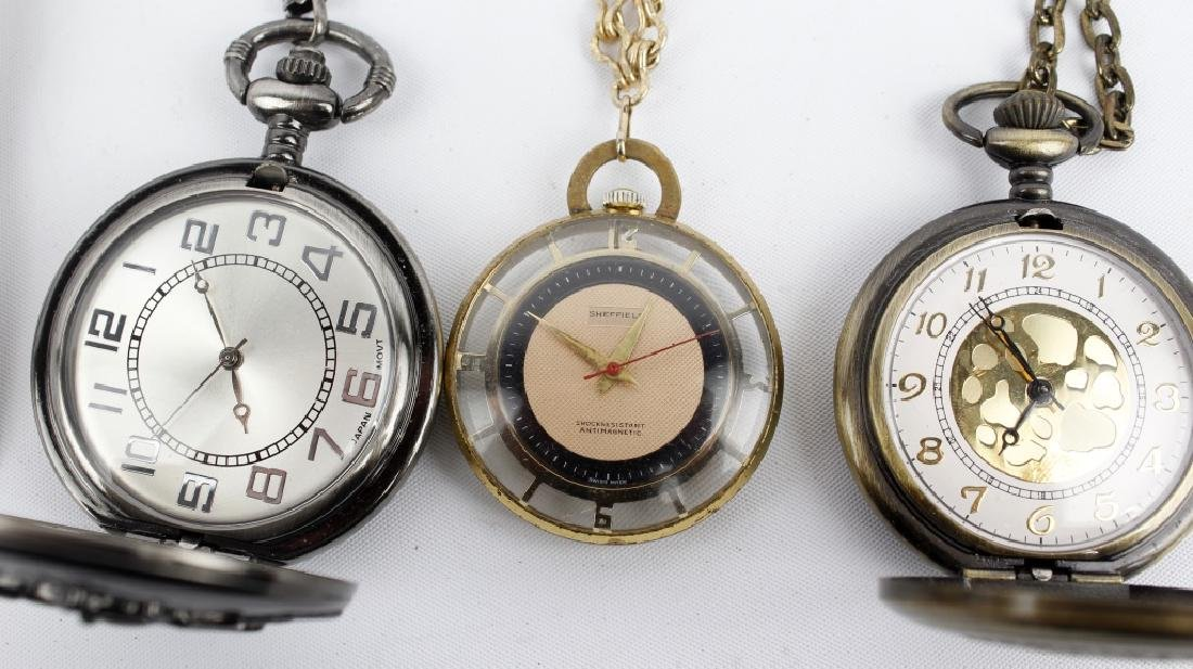 WRIST AND POCKET WATCHES LOT OF 6 - 4