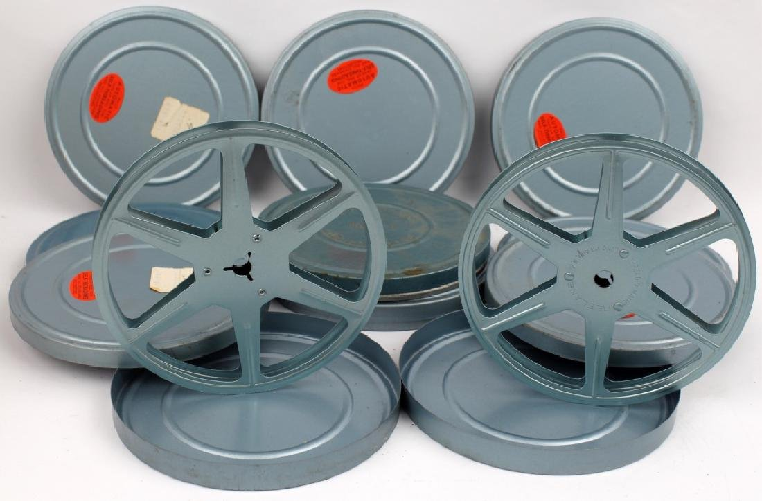 VINTAGE FILM CANISTERS AND REELS LOT OF 9