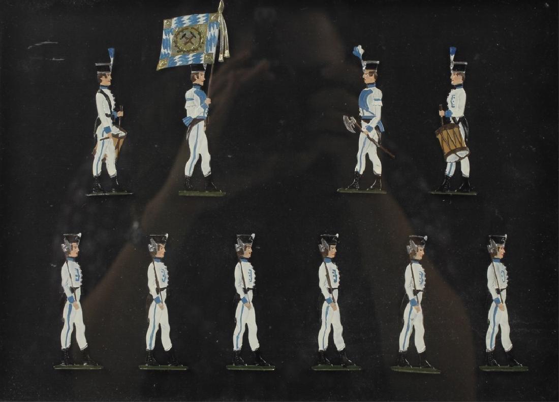 FRAMED GERMAN SCHWEIZER TIN FLAT TOY SOLDIERS -3 - 2