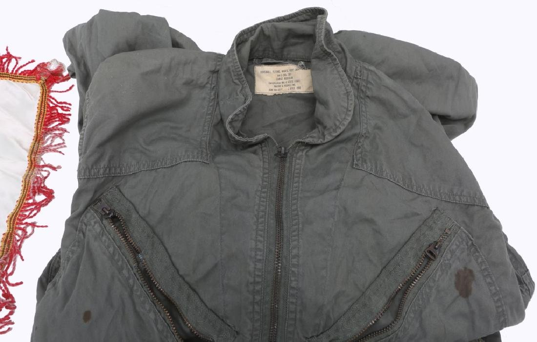 MILITARY GROUPING - COVERALL, PAPERS, PIN, ETC. - 3