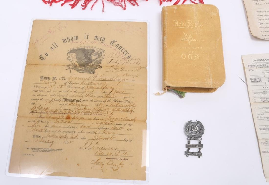 MILITARY GROUPING - COVERALL, PAPERS, PIN, ETC. - 4