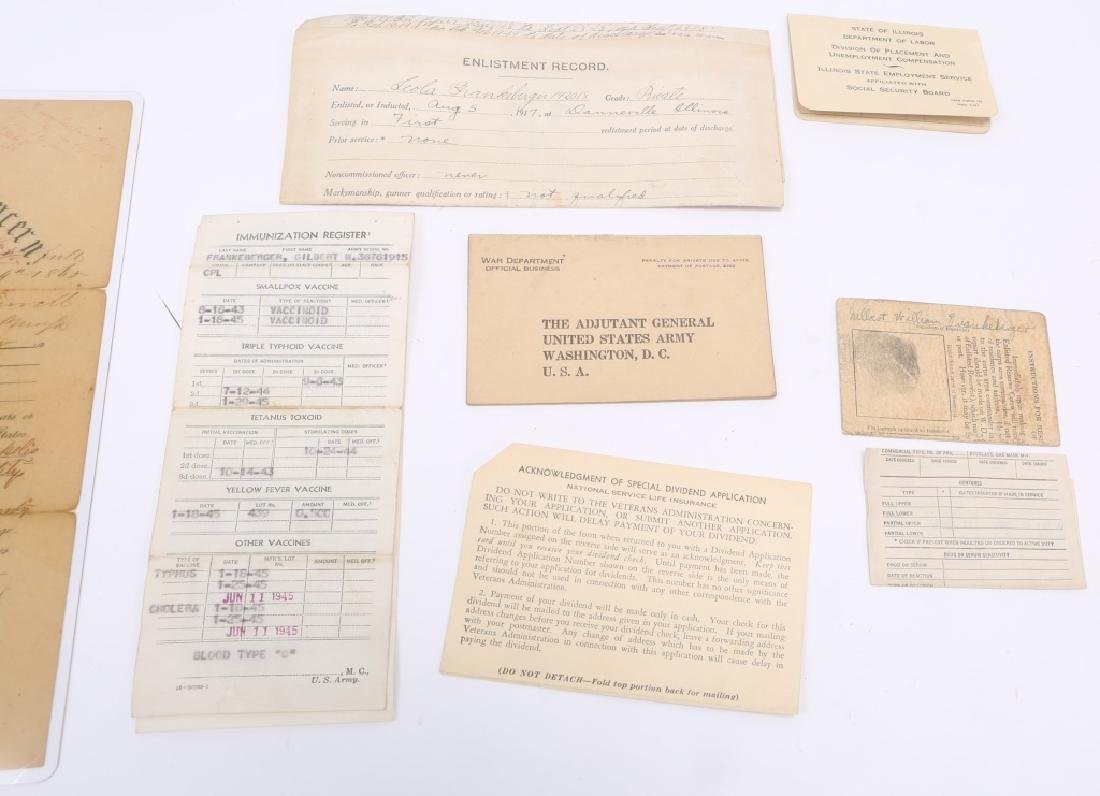 MILITARY GROUPING - COVERALL, PAPERS, PIN, ETC. - 6