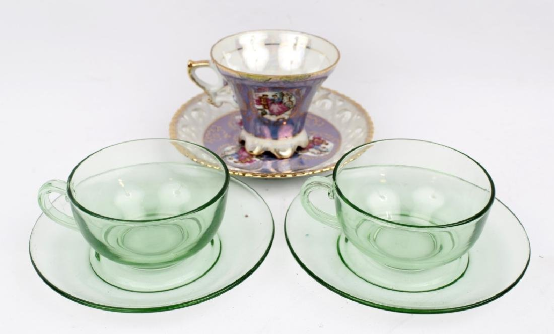 TEA CUPS AND SAUCERS - LOT OF THREE