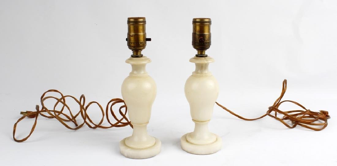 MARBLE DESK LAMPS - LOT OF 2
