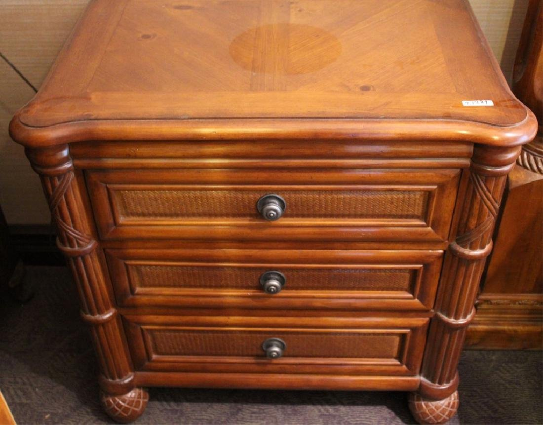 TOMMY BAHAMA STYLE SOLID WOOD NIGHTSTANDS LOT OF 2